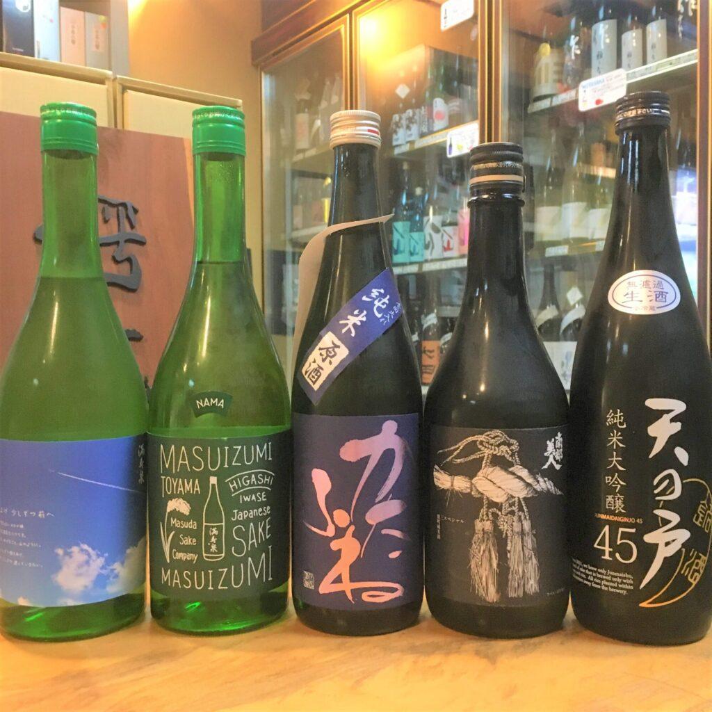 冷やしておいしい初夏の日本酒
