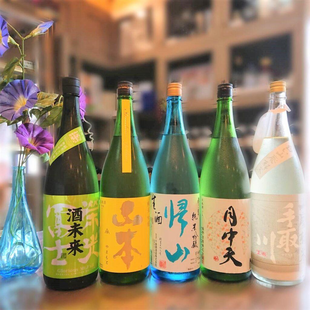 夏本番においしい夏酒![栄光冨士、山本、帰山、月中天、手取川]