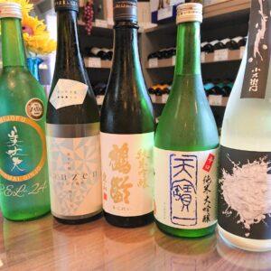 夏の季節の限定酒「美丈夫、燦然、鶴齢、天寶一、小左衛門」